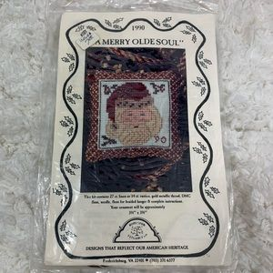 🔑 Vintage A Merry Old Soul Counted Cross-stitch